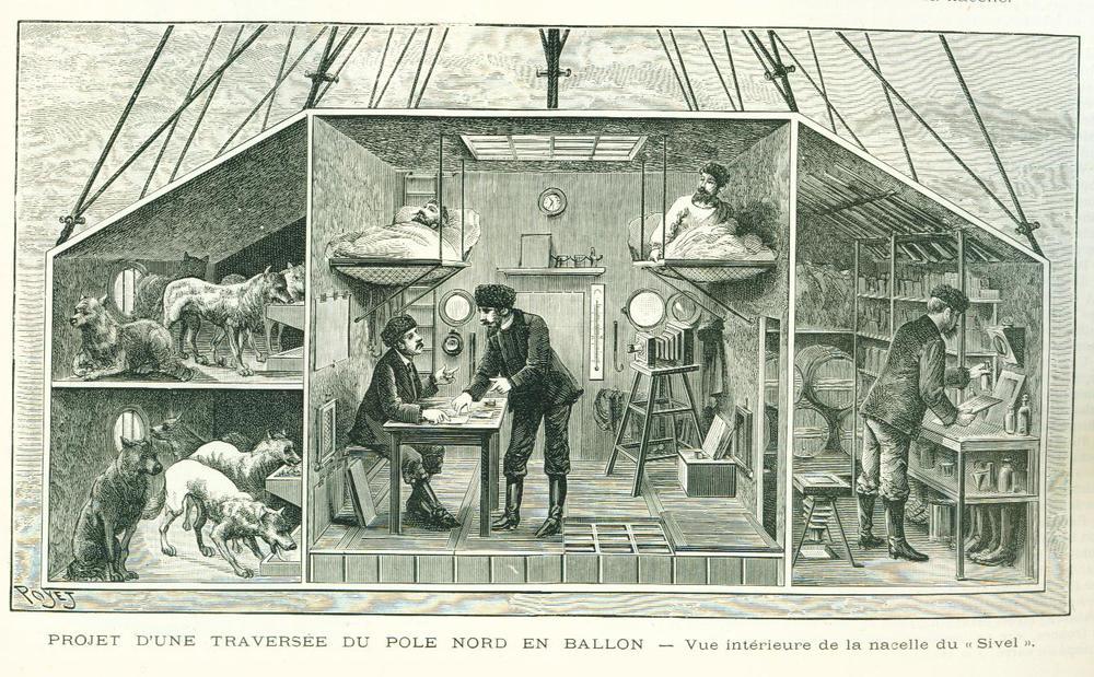 Figure 3. Poyet, «Projet d'une traversée du pole Nord en ballon» from L'Illustration, no. 2488, p. 374, 1er novembre, 1890