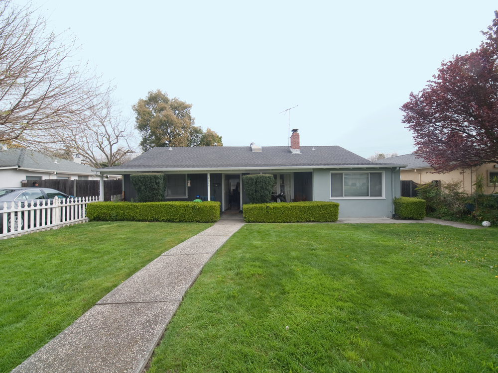 "A 1950 ""Rancher"" in Palo Alto - three bedrooms and one bath, now worth more than $800,000."