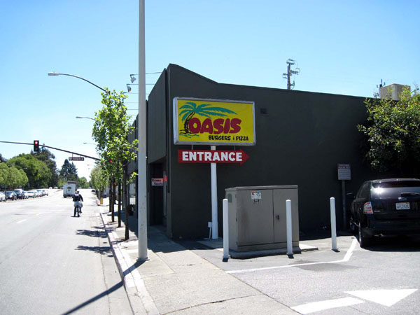 The Oasis, 241 El Camino Real, Menlo Park - one of the valley's hangouts for inventors and engineers.
