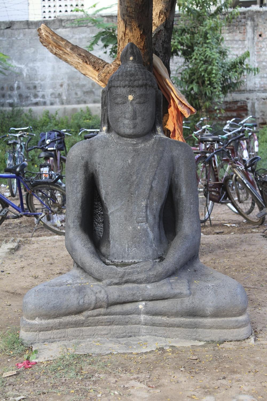 Figure 7-Buddha statue Subbaraya Mudalair boys' school yard, Kanchipuram,ca. 11th century CE