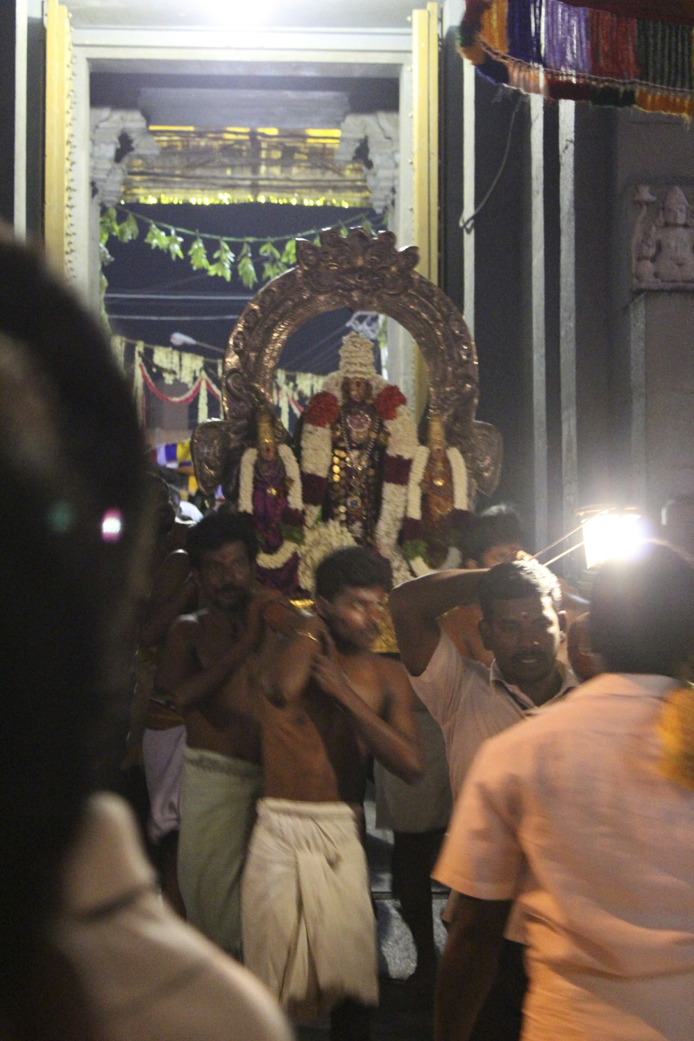 Figure 16- Kamakshi Amman Temple, Kanchipuram, The Goddess Kamakshi carried in procession outside the temple, July 2014