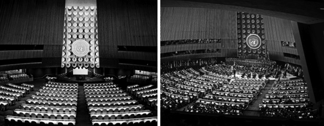 Left: UN Photo #70477. Right: UN Photo #337048 by Marvin Bolotsky