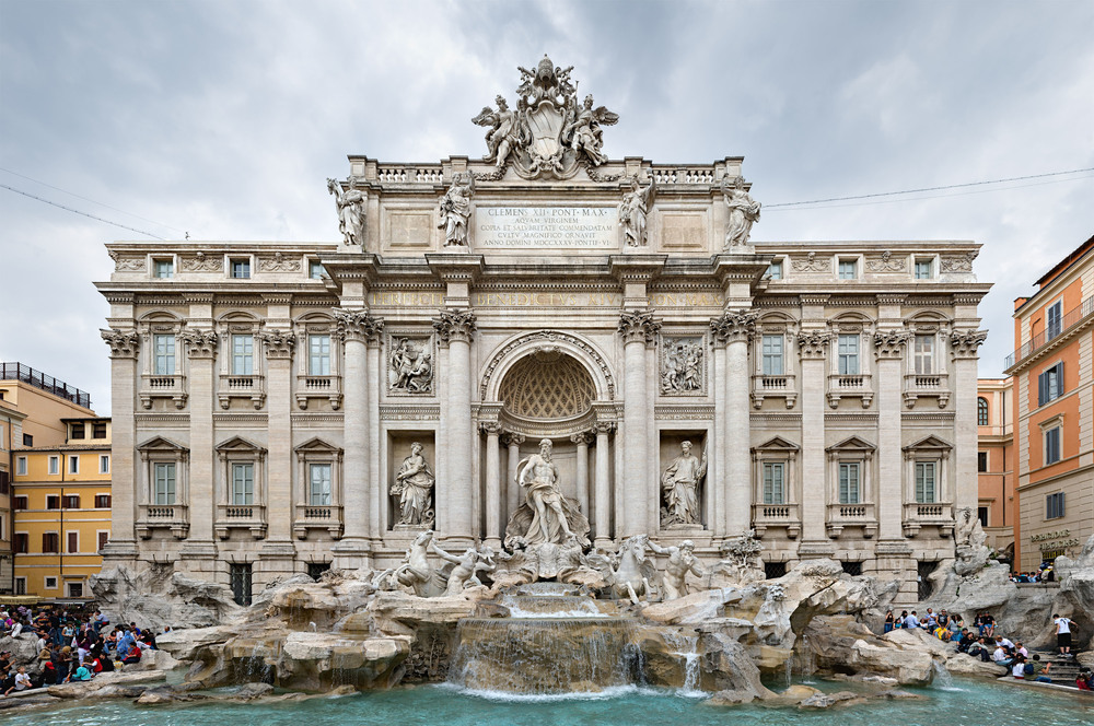 The Trevi Fountain, 2007. Photo by David Iliff; License: CC-BY-SA 3.0