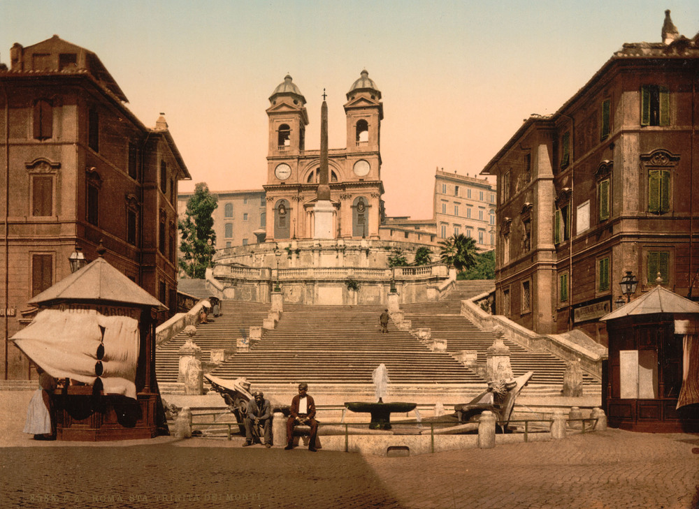 The   Spanish Steps. Detroit Publishing Company, circa 1890-1900, Courtesy of the Library of Congress.
