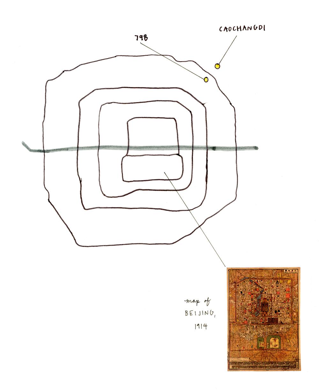Map, Lauren Matthews, Los Angeles, CA.