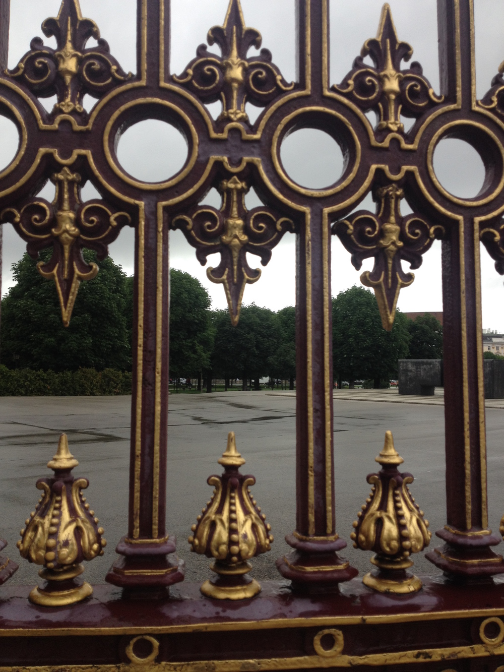 Detail of  the fence surrounding Hofburg Palace in the Vienna's Innere Stadt. July 2014. Photo courtesy of Megan Hoetger.