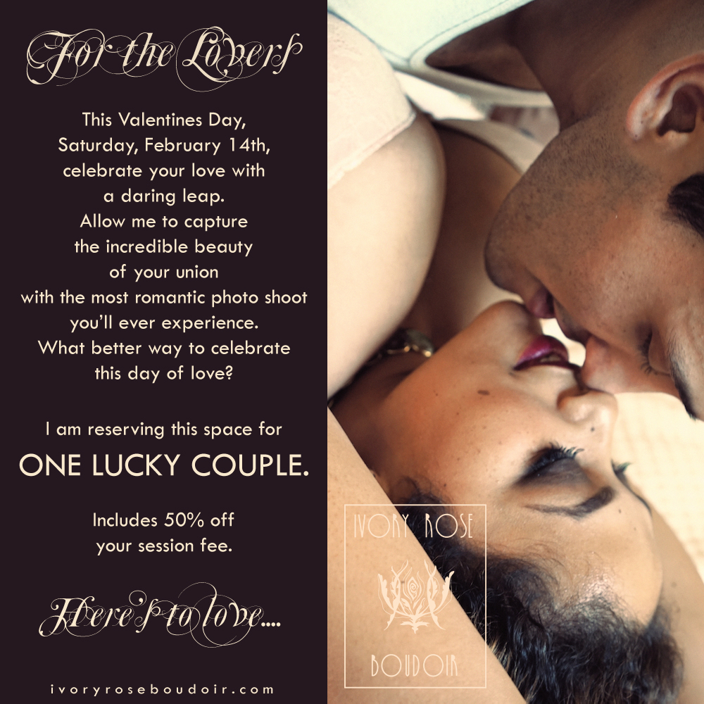 Ivory Rose Boudoir Valentines Day Special Los Angeles Santa Barbara Photographer