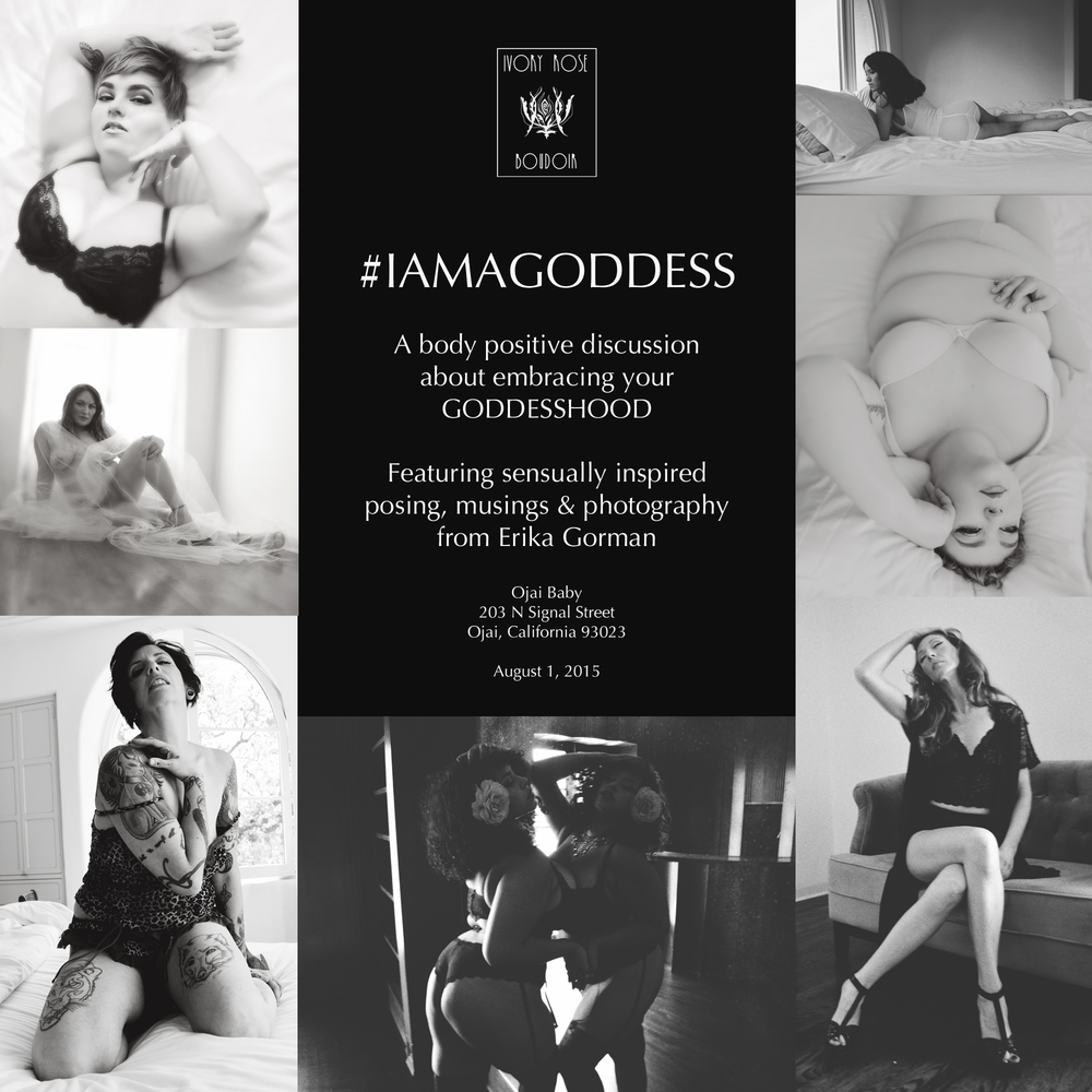 Ivory Rose Boudoir #IAMAGODDESS Speaking engage,ent body positive discussion ojai california los angeles santa barbara
