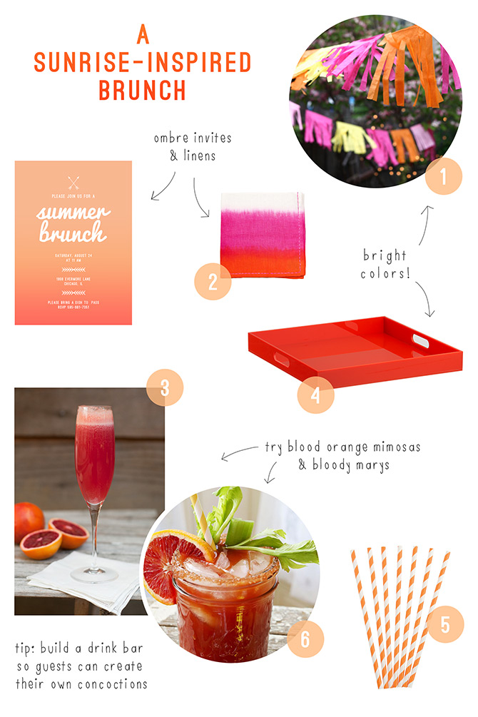 A sunrise-inspired brunch | Evermore Paper Co.