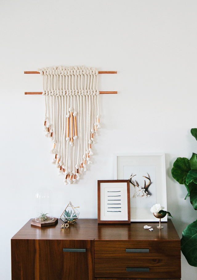 DIY copper wall hanging via Smitten Studio