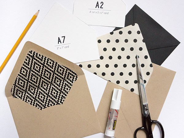 DIY envelope liners // evermore paper co.