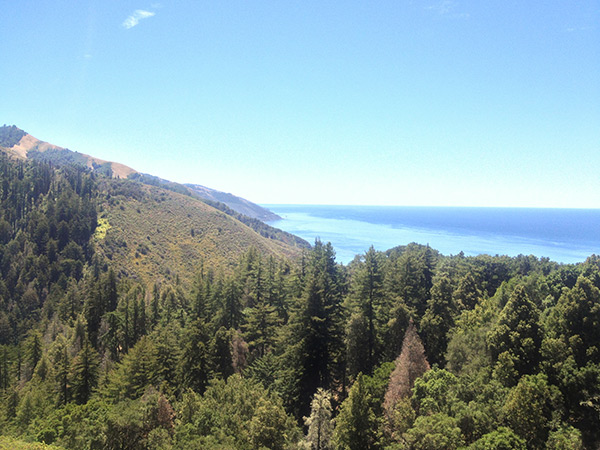 Hiking high above the Big Sur Coast and Pacific Coast Highway
