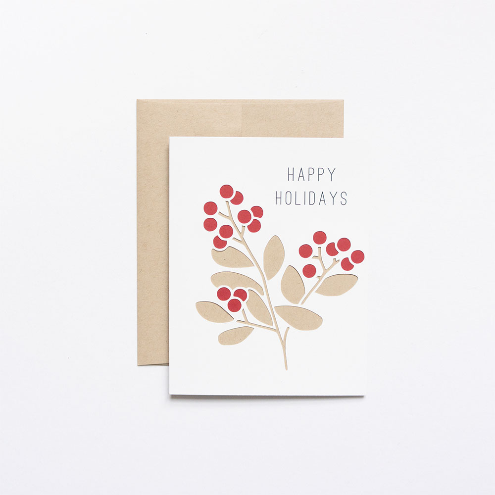 Winter Berries Holiday Card // Evermore Paper Co.