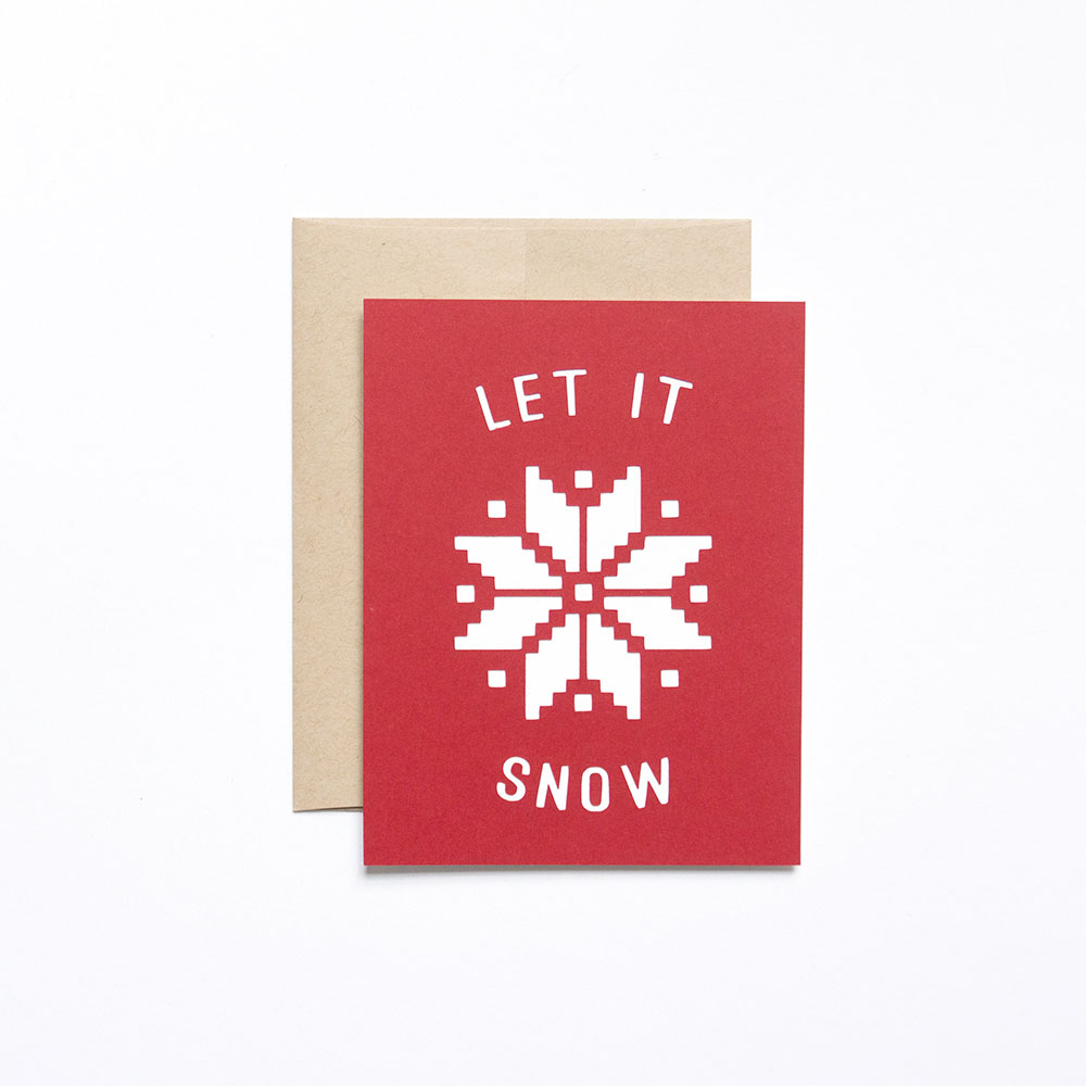 Let It Snow Holiday Card // Evermore Paper Co.
