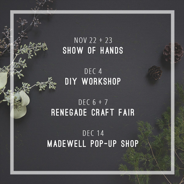 Upcoming Holiday Events // Evermore Paper Co.