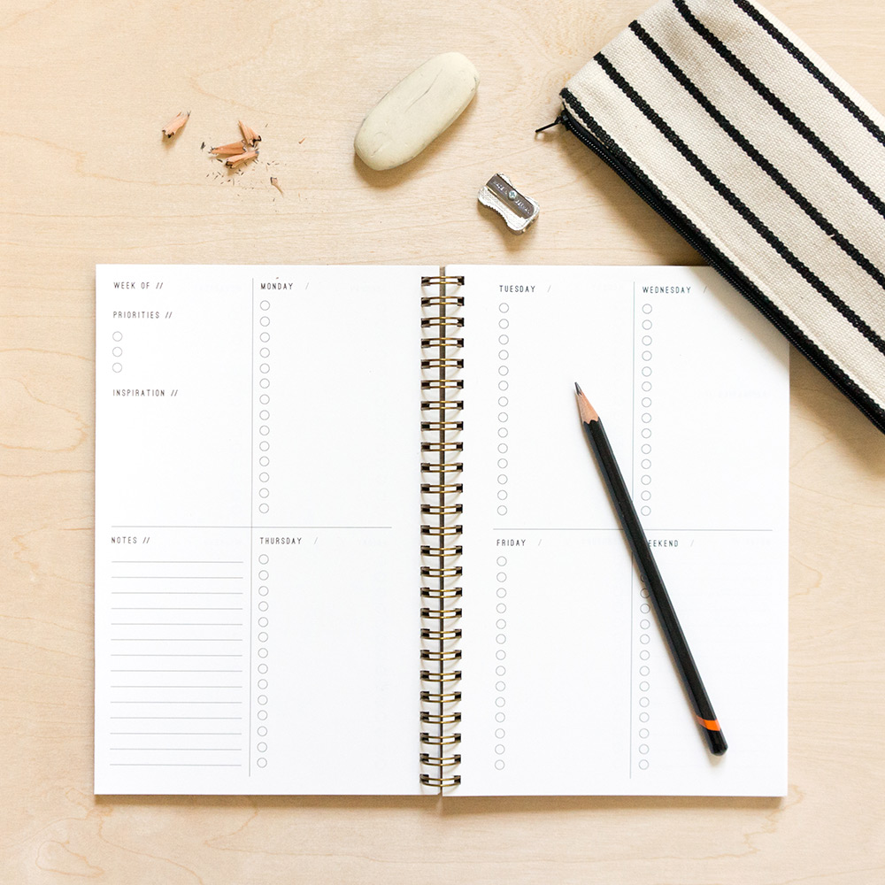 open-dated planner via Evermore Paper Co.