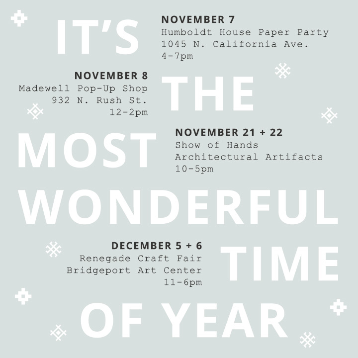 Evermore Paper Holiday Events Flyer