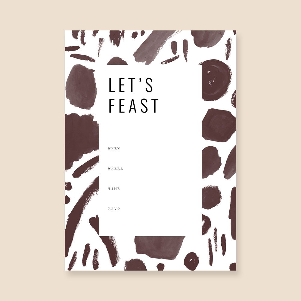 Fall Feast Printables | Dinner party invite by Evermore Paper Co.