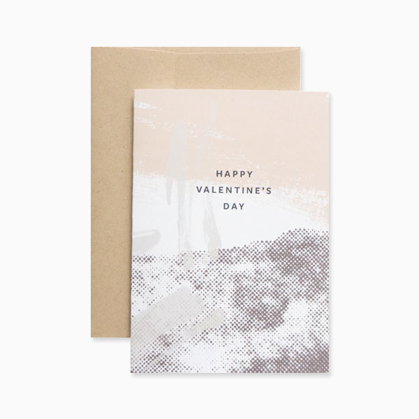 Abstract Valentine's Day card from Evermore Paper Co.