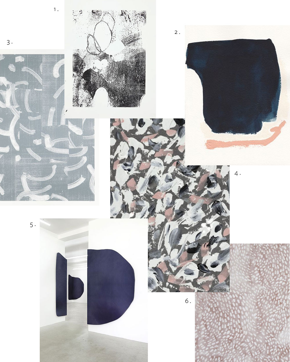 Abstract art inspiration via Evermore Paper Co.