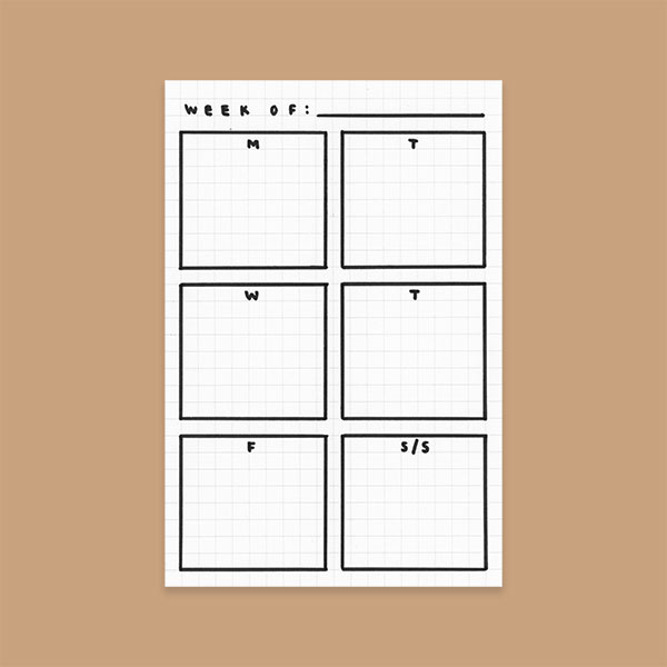 3 Simple Bullet Journal Templates - Daily Schedule