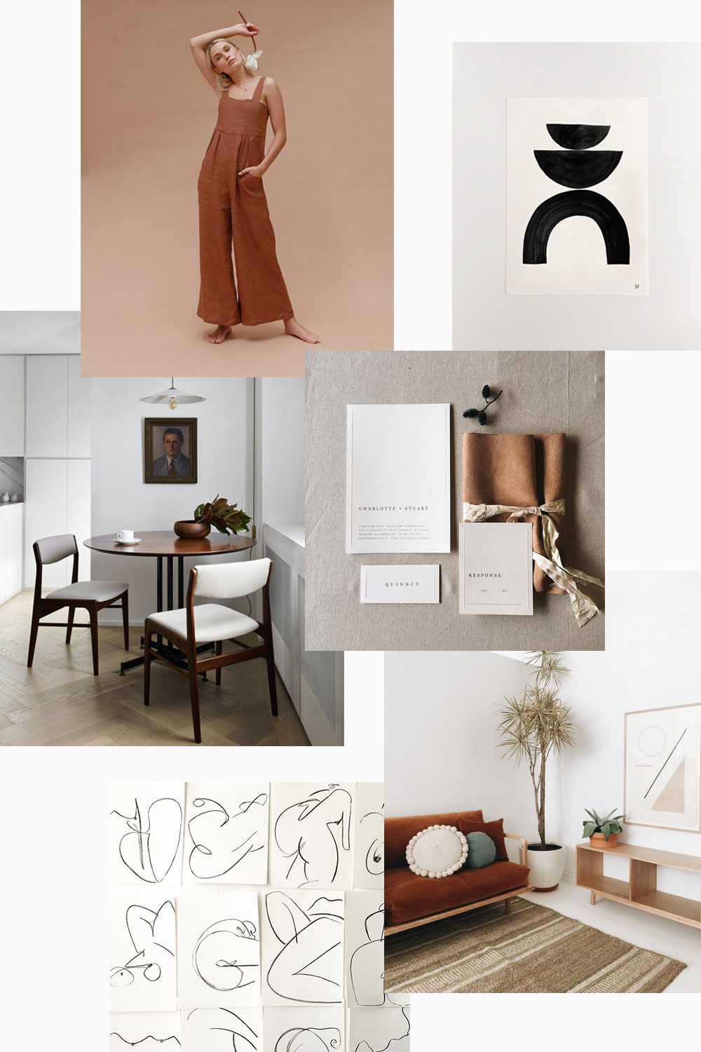 Fall mood board by Evermore Paper Co.
