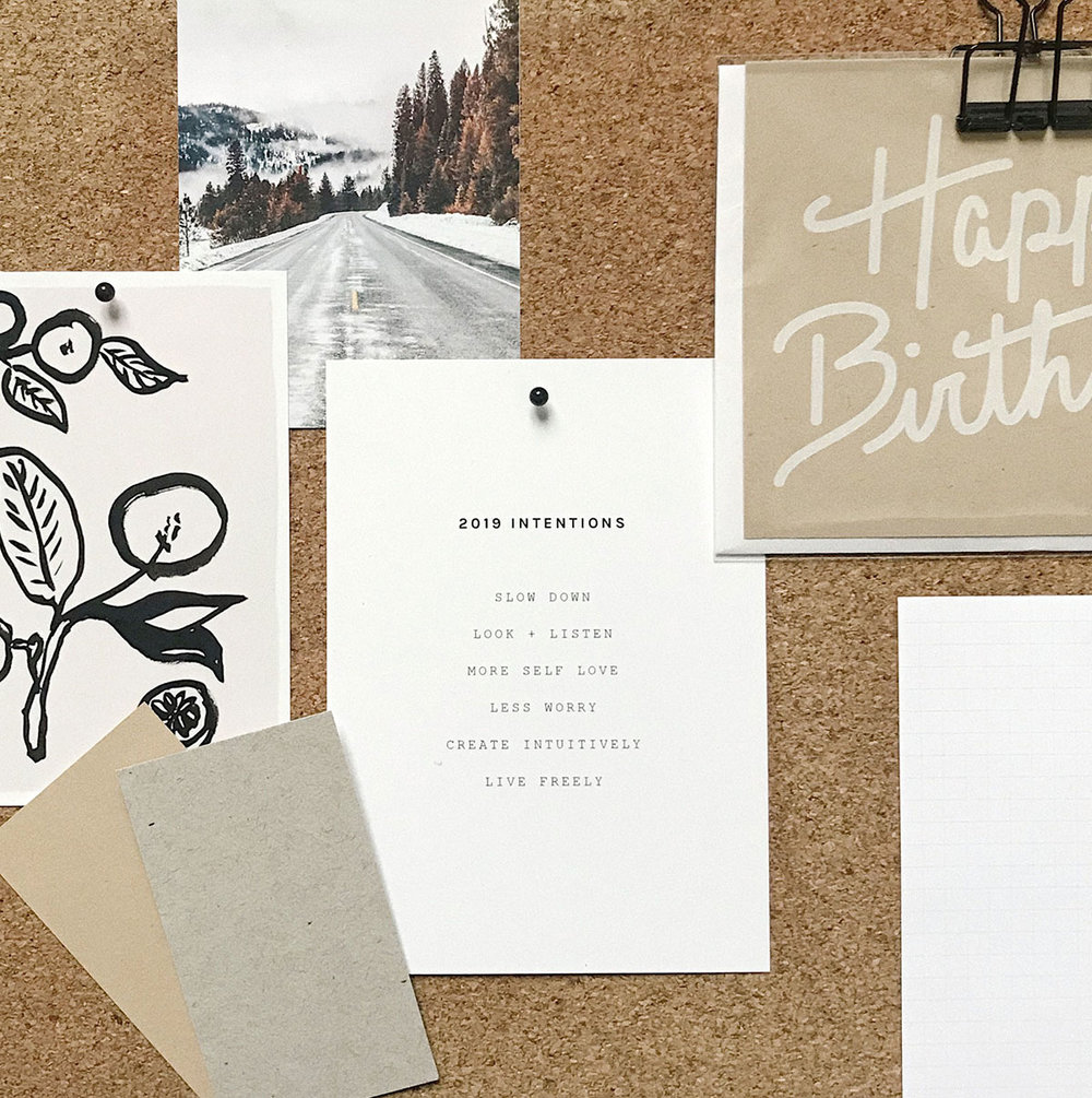 Evermore Paper Co intentions and inspo board