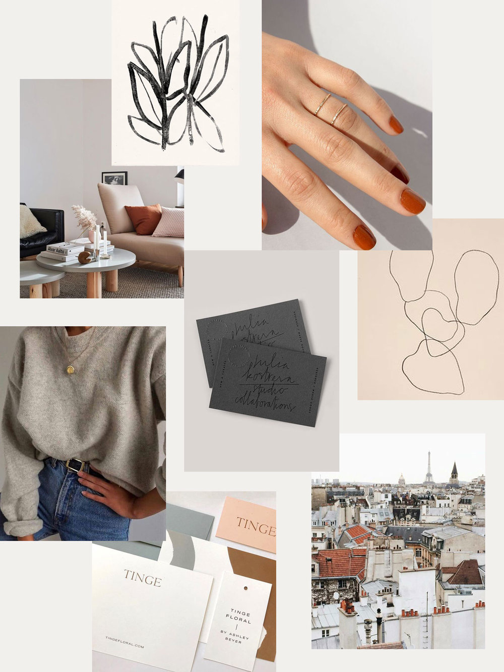 spring inspiration mood board | evermore paper co.