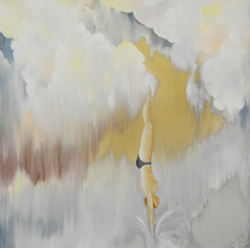 'Cumulus Dive', oil on canvas