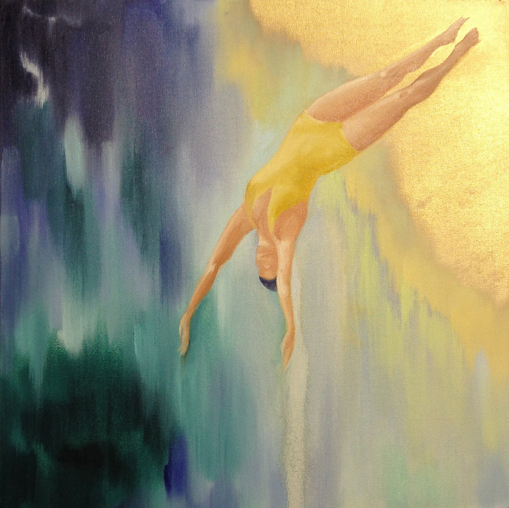 'Free fall', oil on canvas - SOLD