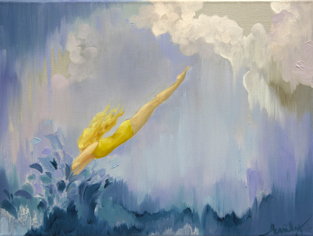 'Summer Plunge', oil on canvas