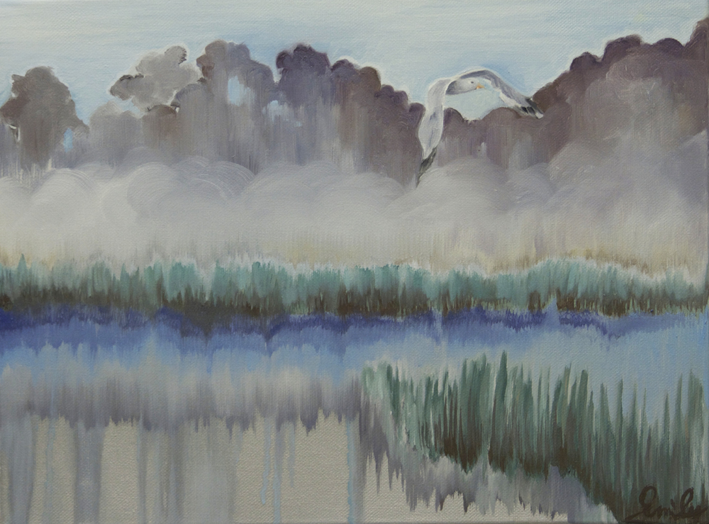 'Seagull Mist', oil on canvas - SOLD