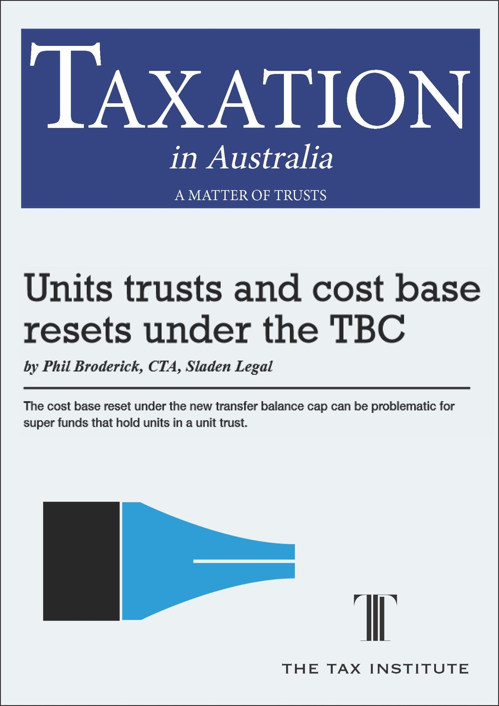 Unit trusts and cost base resets under the TBC 20 April 2017