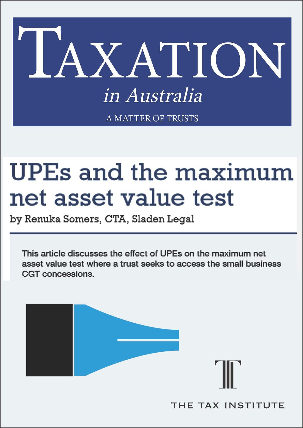UPEs and the maximum net asset value test 22 January 2015
