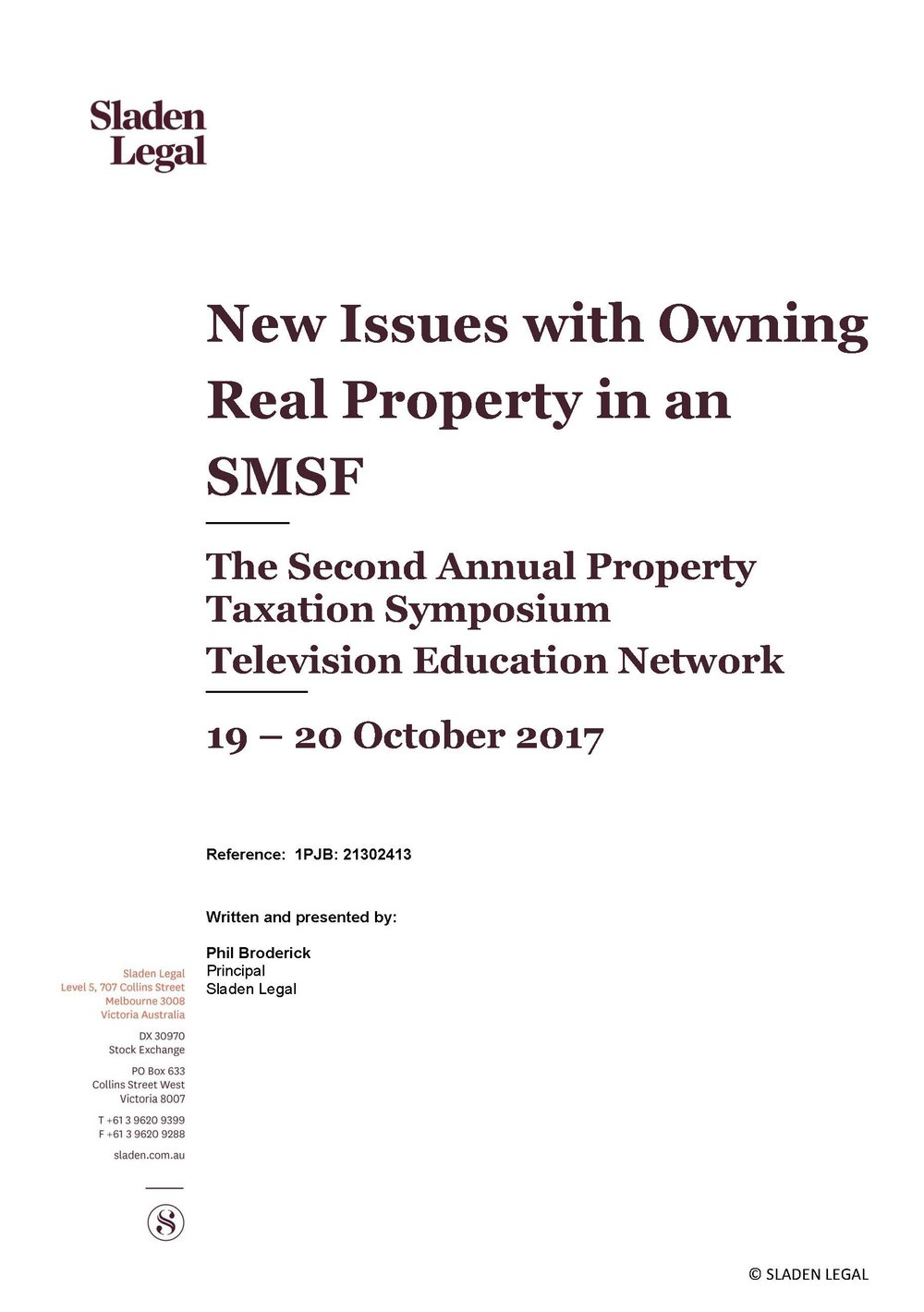 New Issues with Owning Real Property in an SMSF October 25 2017
