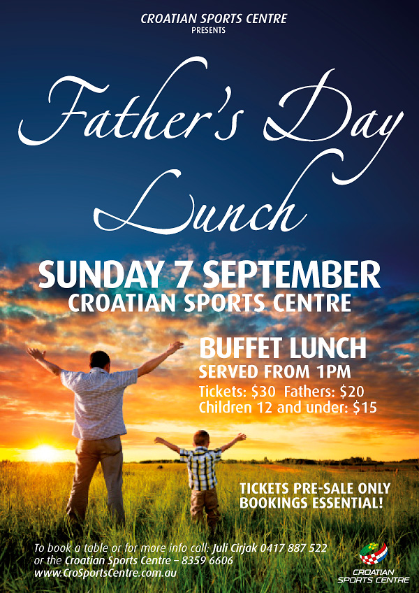 Father's Day Lunch Croatian Sports Centre