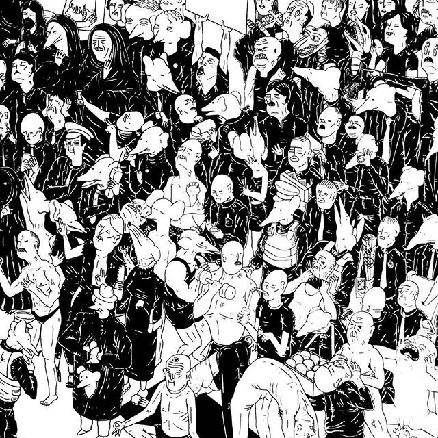¡Visítanos de 12 a 7 de Lunes a Viernes y de 12 a 3 los Sábados! «Distrito Feral» de Parkk Acrílico y tinta / madera, 2016  Obra disponible en «Open Studio 3ª Edición de Verano» en Da Substanz ¡Compra en línea! ;) www.bit.ly/distrito-feral  #DaSubstanz #OpenStudio #Verano #Summer #Arte #Art #Queretaro #Parkk