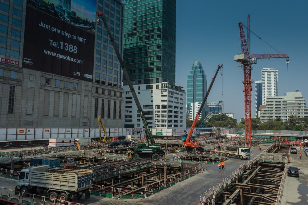 Construction near Ploenchit - condos in the making.