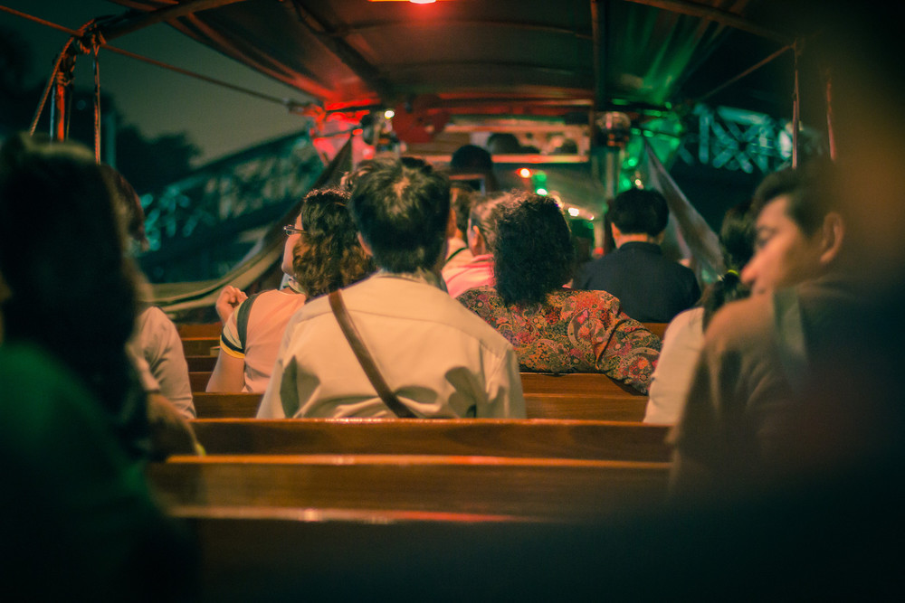 Inside the San Saeb Canal Boat