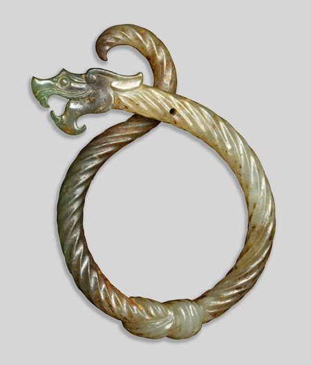 Pendant in the form of a knotted dragon , Eastern Khou dynasty (770-256 B.C.)   [Source:  The Metropolitan Museum of Art ]