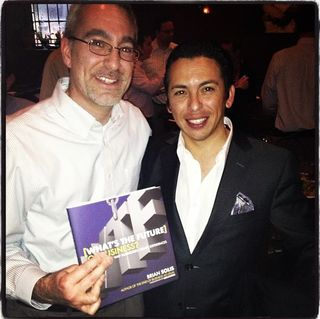Brian Solis (right) at the 2013 Philly meetup.
