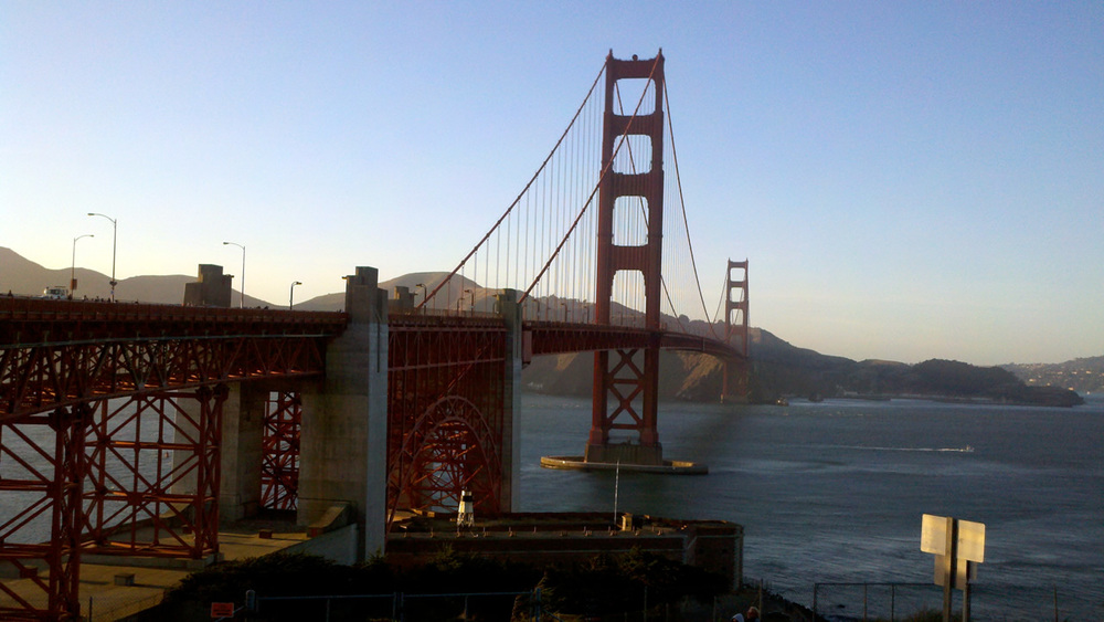 Beautiful view of the Golden Gate bridge.