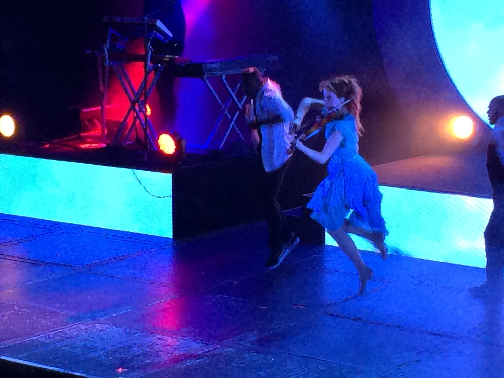Lindsey Stirling at the June 23, 2014 Philadelphia concert.