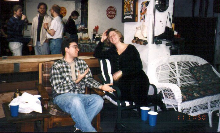 My wife and I back in 1997. I loved my flannel back then.