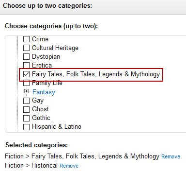 Only certain categories are available through Amazon's dashboard.