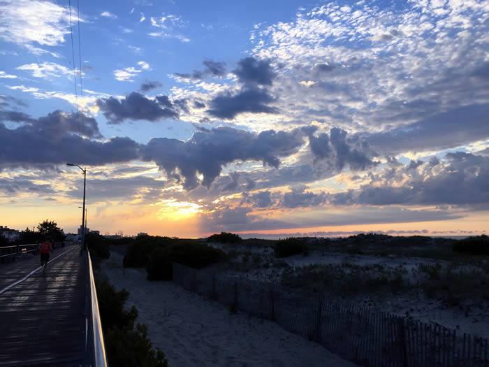 Sunrise on the boardwalk.