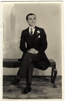 My grandfather in his brother's wedding back in the '40s.