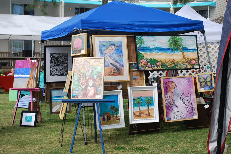 Art On the Neuse- Oriental, NC My art on display at this fun event!