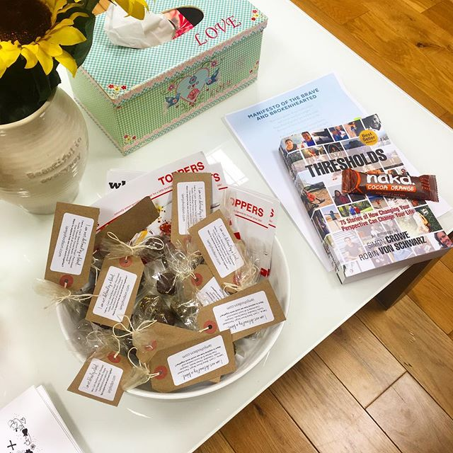 I shared 'my story' last night at a wonderful self-development networking group - my story of stepping into life as a health and mindset coach as well as launching my food business!  Props for my talk on the right and a bowl of bliss balls for my audience on the left. 😊