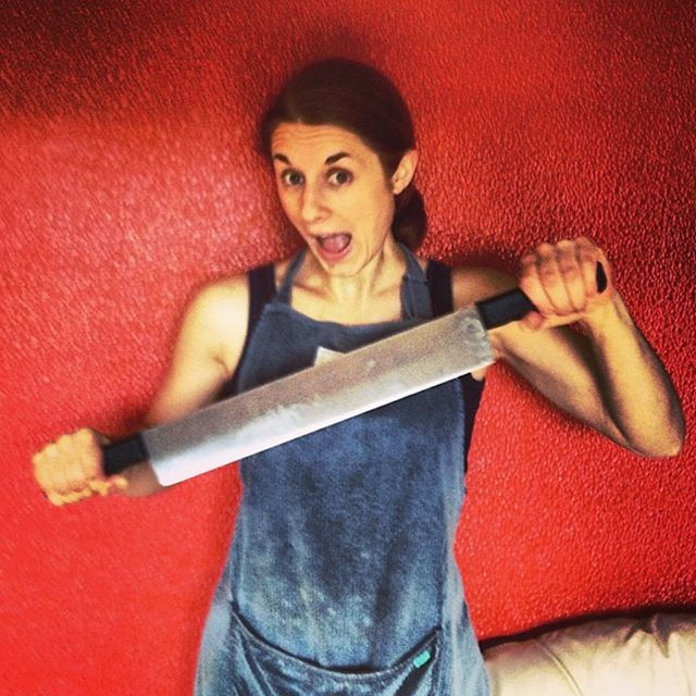 #throwback to 2013 when I launched @wholeplus and spent hours cutting tiny cubes with this huge double ended knife! ...things have moved on a little since then (and my hands are much less sore!) 😉